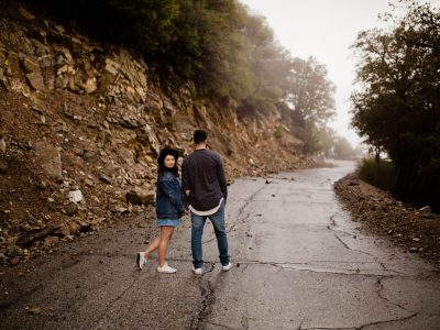 Crystal + Bashar Angeles National Forest Engagement
