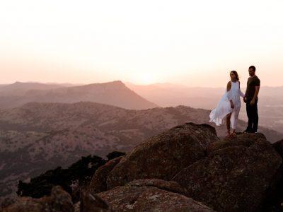 Sidney + Sam Boho Desert Engagement